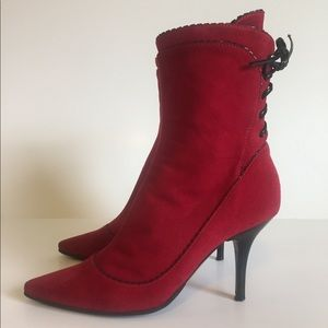 Alberto Guardiani Red Boots Sz 37 made in Italy